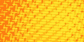 Yellow red halftone background Royalty Free Stock Photography
