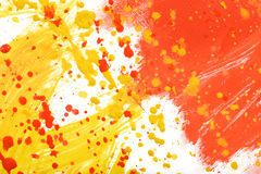 Yellow-red hand-painted gouache stroke daub texture. Yellow-red abstract hand-painted gouache brush stroke daub background texture Royalty Free Stock Images