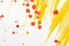 Yellow-red hand-painted gouache stroke daub texture. Yellow-red abstract hand-painted gouache brush stroke daub background texture Royalty Free Stock Image