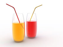 Yellow and red juice Stock Photography