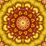 Yellow red kaleidoscope Stock Photography