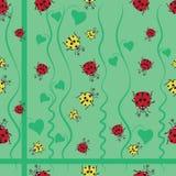 Yellow and red ladybugs among the bindweed. Royalty Free Stock Photography