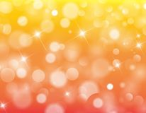 Yellow Red light bokeh background texture. Design vector illustration