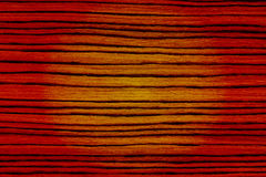 Yellow red light striped wood texture Stock Photography