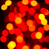 Yellow and red lightbulb, square Royalty Free Stock Image
