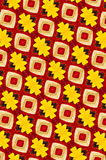 Yellow and red metal patterned background Stock Photography