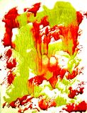 Yellow-red monotype Royalty Free Stock Images