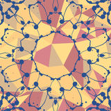 Yellow and red mosaic background and watercolor Royalty Free Stock Photography