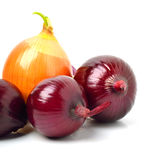Yellow and red onion Royalty Free Stock Image