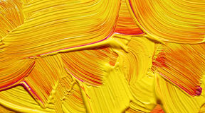 Yellow red paint impasto Royalty Free Stock Photo