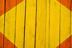 Yellow and red painted boards Royalty Free Stock Photo