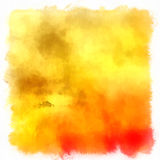 Yellow and red painting Royalty Free Stock Image