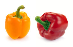 Yellow and red paprika Royalty Free Stock Photos