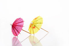 Yellow and red parasol Stock Photos