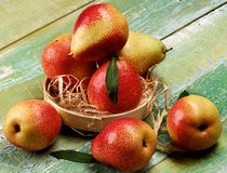 Yellow and Red Pears Royalty Free Stock Image