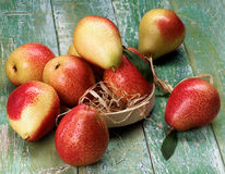 Yellow and Red Pears Stock Images