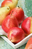 Yellow and Red Pears Stock Photography