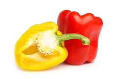 Yellow and red pepper Royalty Free Stock Image