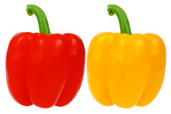 Yellow and red pepper Royalty Free Stock Photos