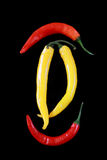 Yellow and red peppers Royalty Free Stock Photos