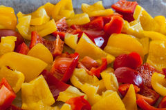 Yellow and red peppers Royalty Free Stock Photo
