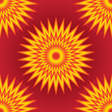 Yellow red pink colorful ray effect seamless pattern Stock Photo