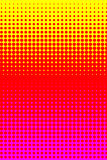 Yellow red pink halftone raster Stock Photos