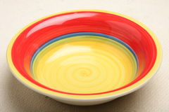 Yellow Red Plate Stock Image