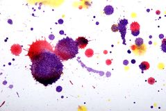 Yellow, red  and purple colorlump in white backgro. Und, my color artwork for background Royalty Free Stock Image