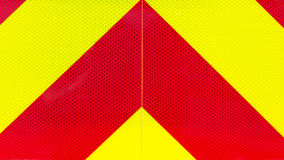 Yellow and red retroreflective panel on a fire truck Stock Photo