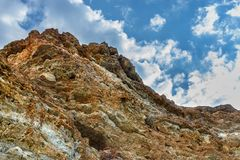 The yellow-red rocks royalty free stock photo