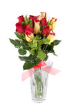 Yellow and red roses bouquet Royalty Free Stock Photos