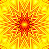Yellow-red star abstract background Royalty Free Stock Photography