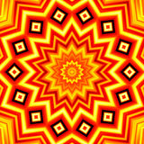 Yellow-red star kaleidoscope background Stock Image