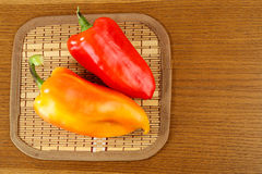 Yellow and red sweet pepper Royalty Free Stock Photography