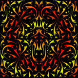 Yellow and red symmetrical pattern. Royalty Free Stock Photos