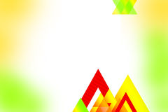 Yellow and red triangle overlap, abstrack background Royalty Free Stock Photography