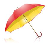 Yellow-red umbrella Royalty Free Stock Images
