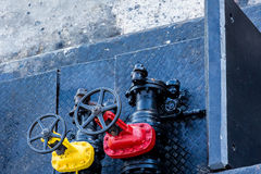 Yellow and Red Valves Royalty Free Stock Image
