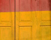 Yellow red vintage wood texture Royalty Free Stock Images