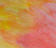 Yellow and red watercolorbackground Royalty Free Stock Images