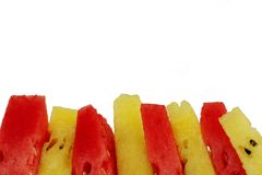 Yellow and red watermelon Royalty Free Stock Photo