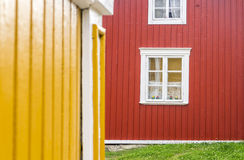 Yellow and red wooden house, Finland Royalty Free Stock Photography