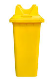 Yellow refuse bin, isolated Royalty Free Stock Photo