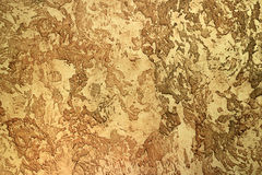 Yellow relief textured clay for interior surface. Decorating stock images