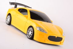 Yellow remote control toy  sports car Stock Photography