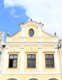 Yellow renaissance house in Telc Royalty Free Stock Image