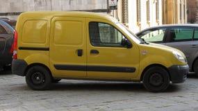 Yellow Renault dCi 70 van Royalty Free Stock Photography