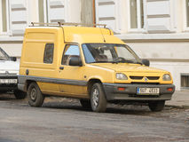 Yellow Renault Express Van Stock Photos