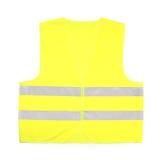 Yellow rescue vest. Yellow recue vest isolated on white background Stock Photos